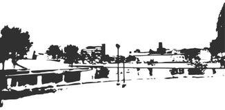 Skyline detalhada da cidade de Minsk Centro histórico da cidade Imagens de Stock
