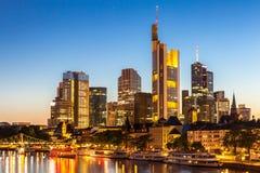 Skyline Deutschlands Frankfurt Stockbild