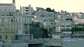Skyline di Betlemme stock footage