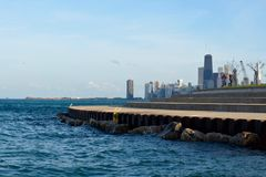 Skyline From Diversey Harbor Royalty Free Stock Images