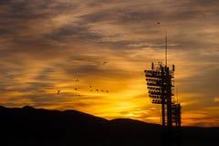 Skyline do amanhecer Imagens de Stock Royalty Free