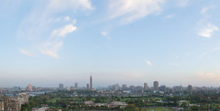 Skyline do Cairo no crepúsculo Fotografia de Stock Royalty Free