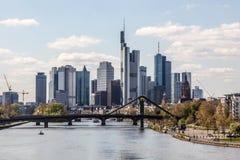 Skyline do cano principal de Francoforte, Alemanha Imagens de Stock Royalty Free