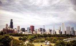 Skyline do centro Chicago Fotos de Stock