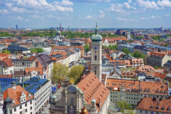 Skyline do centro da cidade de Munich Fotografia de Stock