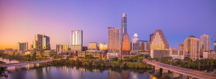 Skyline do centro de Austin, Texas fotos de stock royalty free