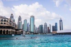 Skyline do centro de Dubai Fotografia de Stock