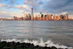 Skyline do centro de Manhattan Imagem de Stock Royalty Free