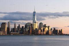 Skyline do centro de Manhattan - New York City Foto de Stock Royalty Free