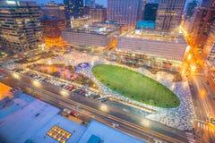 Skyline do centro de St Louis no crepúsculo imagens de stock royalty free