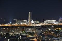 Skyline do centro de Toronto na noite fotos de stock royalty free