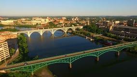 Skyline do centro Knoxville Tennessee United States da cidade das construções do nascer do sol filme