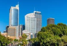 Skyline do distrito financeiro central de Sydney - Austrália fotos de stock