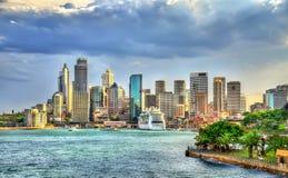 Skyline do distrito financeiro central de Sydney, Austrália imagens de stock