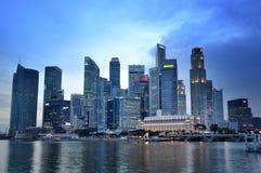 Skyline do distrito financeiro de Singapore Imagem de Stock