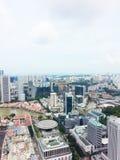 Skyline do distrito financeiro de Singapura Fotos de Stock Royalty Free