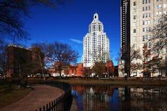 Skyline do Hartford, Connecticut imagens de stock royalty free