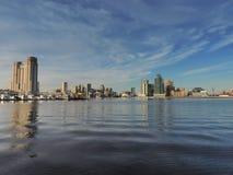 Skyline do leste do centro de Baltimore e de porto fotografia de stock royalty free