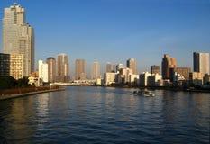 Skyline do louro de Tokyo Imagens de Stock
