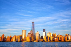 Skyline do Lower Manhattan foto de stock royalty free
