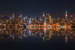 Skyline do Lower Manhattan Fotografia de Stock