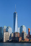 Skyline do Lower Manhattan imagem de stock