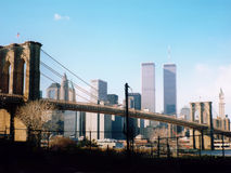 Skyline do Lower Manhattan Imagens de Stock Royalty Free