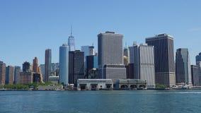Skyline do Lower Manhattan em New York City Fotos de Stock Royalty Free