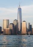 Skyline do Lower Manhattan na noite Foto de Stock