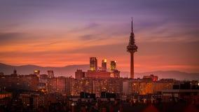 Skyline do Madri Imagem de Stock Royalty Free