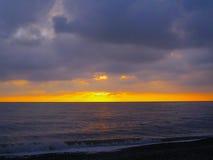 Skyline do mar após o por do sol foto de stock royalty free
