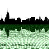 Skyline do Midtown com binário Fotos de Stock Royalty Free