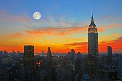 Skyline do Midtown de New York City fotografia de stock royalty free