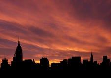 Skyline do Midtown no por do sol Fotos de Stock