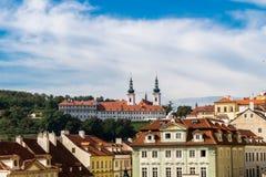 Skyline do monastério de Praga Strahov Fotos de Stock Royalty Free