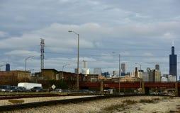 Skyline do oeste imagens de stock