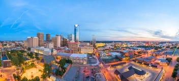 Skyline do Oklahoma City, Oklahoma, EUA fotografia de stock