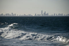 Skyline do paraíso dos surfistas, Austrália, 2009 Foto de Stock Royalty Free