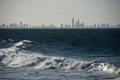 Skyline do paraíso dos surfistas, Austrália, 2009 Foto de Stock Royalty Free