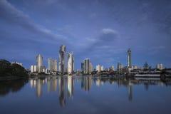 Skyline do paraíso dos surfistas, Gold Coast Imagem de Stock
