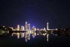 Skyline do paraíso dos surfistas, Gold Coast Foto de Stock Royalty Free
