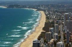 Skyline do paraíso dos surfistas - Queensland Austrália Fotografia de Stock