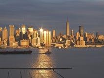Skyline do por do sol Imagens de Stock