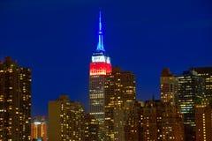 Skyline do por do sol de Manhattan New York do leste Imagens de Stock