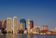 Skyline do porto de Boston Fotos de Stock