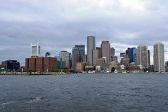 Skyline do porto de Boston fotografia de stock