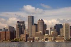 Skyline do porto de Boston Imagens de Stock