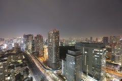 Skyline do sul do Tóquio como visto do World Trade Center imagens de stock royalty free