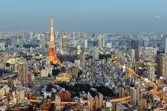 Skyline do Tóquio de Roppongi imagens de stock