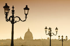 Skyline do Vaticano em Itália Fotografia de Stock